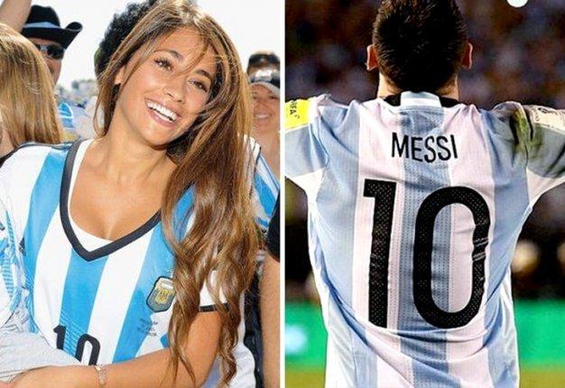 Antonella Rocuzzo y Messi