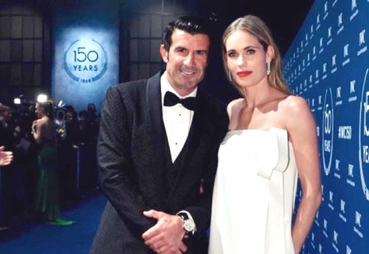 Helene Svedin y Luis Figo