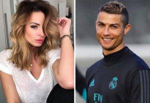Rhian Sugden y Cristiano Ronaldo