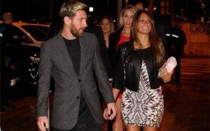 Antonella y Lionel Messi