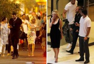 Pamela Anderson y Adil Rami