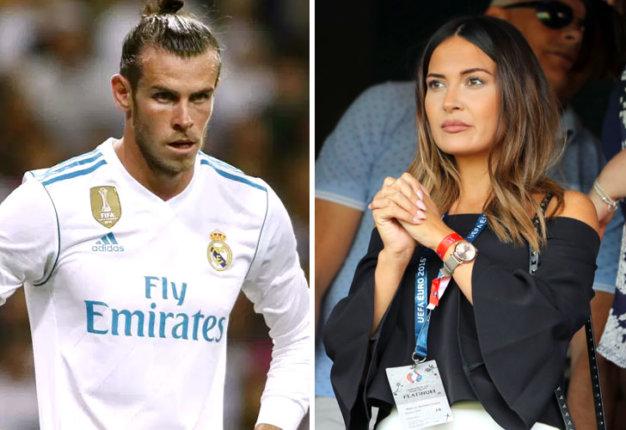 Gareth Bale y Emma Rhys-Jones