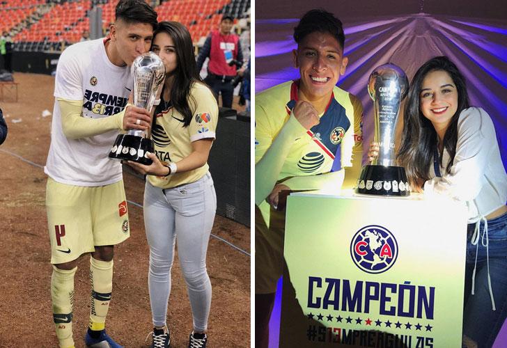 Sofía Toache y Edson Álvarez