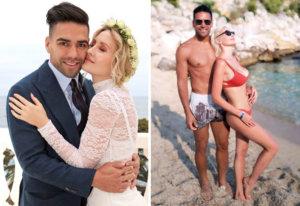 Radamel Falcao y Lorelei Taron